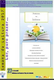 Ler mais: Semana da Leitura na biblioteca da Escola Dr. Ruy de Andrade